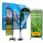 Roll-up, drapeaux, x-banner
